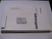 Quick Start Manual Milltronics Multiranger 100/200 English and Multilingual