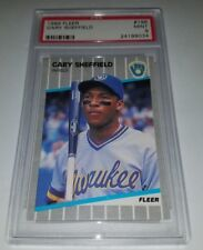 1989 Fleer #196 Gary Sheffield Rookie Card RC Graded PSA 9 Mint HOF ??