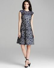 Kay Unger New York Fit and Flare Lace Cocktail Dress $530 NWT   SZ12    C152