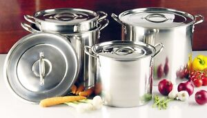 Buckingham Stainless Steel Large Stock Pot Brew Boiling Stew Soup Cooking Pot