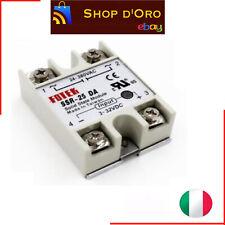 Relè statico SSR-25 DA - IN 3-32VDC  stato solido relay 24-380VAC