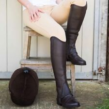 Just Chaps Saltos Gaiters in Premium Leather in Adult Sizes Horse Riding Blk/Brn