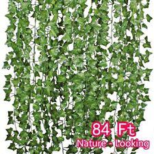 Plantas colgantes artificiales, hojas de seda de la hoja de la flor falsa