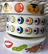 Adhesive Stickers: Googly Eyes (2000), Nose (600) Mouth Stickers (600)
