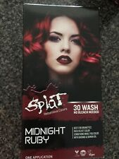 New Splat 30 Wash No Bleach Semi-Permanent Hair Dye Midnight Ruby Red