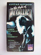 Guitar Method: Metallica VHS Video Tape