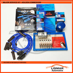 Major Service Kit for Holden Commodore VS, V6 3.8Ltr with Eagle Leads
