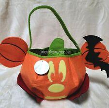 Disney 2017 Mickey Mouse Trick or Treat Bag Glows in Dark! Halloween! Pumpkin