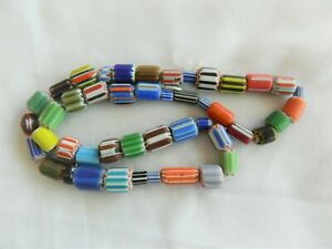 Glass Beads, Venetian Style, Mixed Size And Colours, 42cm Strand No 2