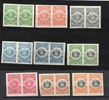 CHILE Consular Service MH imperforated pairs set up to 10p must see NOT flaws