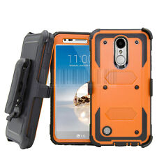 Armor Shockproof Hybrid Holster Phone Case Cover For LG Aristo/Fortune/Phoenix 3