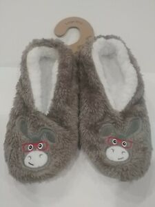 """Faceplant Dreams Footsie Slippers """"Donkey smart ass"""" Size large (9/10)"""