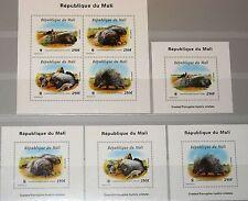 MALI 1998 Klb 1974-77 II A Block A118-D18 A WWF Crested Porcupine Stachelschwein