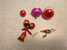 Lot de 5 anciennes boules de noel en verre/old kerst glass bowl
