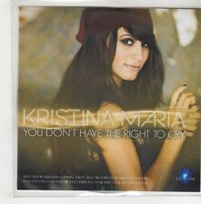 (GQ896) Kristina Maria, You Don't Have The Right To Cry - 2015 DJ CD