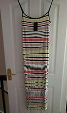 Viscose Long Striped Regular Size Dresses for Women