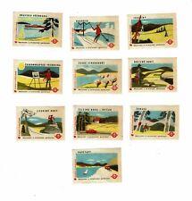 Set of 10 Old Czechoslovakia SOLO Match c 1960s matchbox labels Pastimes, Views