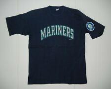 Vtg 90s 1996 Seattle Mariners Team Blue Mlb Baseball T-Shirt Griffey Sz Men's Xl