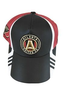 Adidas Leather Atlanta United FC Soccer Cap Adjustable Youth Hat MLS Authentic