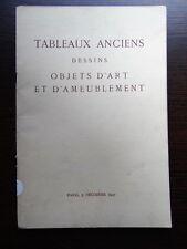 Catalogue de vente TABLEAU ANCIEN mobilier ameublement faience XVIIIe SIECLE