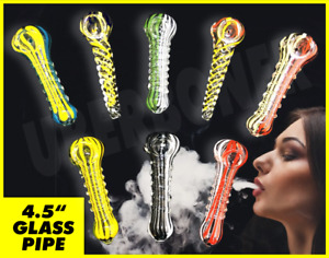 "#1 BEST QUALITY GLASS 4"" TOBACCO SMOKING THICK GLASS SPOON PIPE 🆕🥴️🥴️🔥🔥🔥"