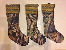 """Camouflage Zig Zag Knit Cuff Design 3-Christmas Stockings Mission Gallery20.5"""" H"""