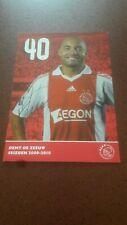 Kaart/card Demy de Zeeuw (Ajax AZ Go Ahead Eagles RSC Anderlecht NAC)