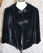 Vintage 1960s Black Velvet Satin Lined Evening Jacket