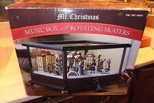 Mr CHRISTMAS MUSIC BOX WITH ROTATING SKATERS