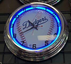 LA DODGERS LOS ANGELES BASEBALL TEAM WALL CLOCK MAN CAVE LIVING TV ROOM GARAGE