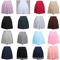 Women Girl JK Dress Sailor Mini School Uniform Pleated Skirt Cosplay 7 Size HOT
