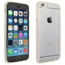 Hülle für Apple iPhone 6 Schutz Tasche Handy Case Cover Silikon transparent gold