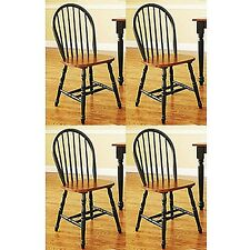 Autumn Lane Windsor Chairs Set of 4 Black and Oak Better Homes and Gardens