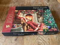 Fireside Santa 1000 Piece Jigsaw Puzzle Complete VGC. See Photos. By Meld Ltd.