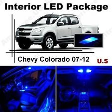 Blue LED Lights Interior Package Kit for Chevy Colorado 2007-2012 ( 9 Pieces )