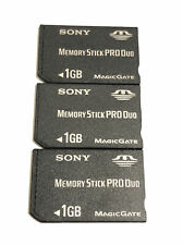THREE - Sony PSP 1GB Memory Stick Card PRO DUO Magic Gate Official OEM Original