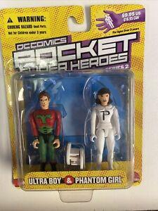 DC Comics Pocket Super Heroes Ultra Boy and Phantom Girl Action Figure 2-Pack