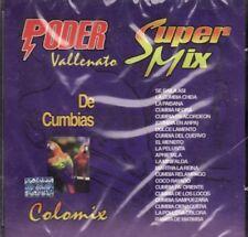 El Poder Vallenato Super Mezcla de Cumbia Colomix CD Sellado