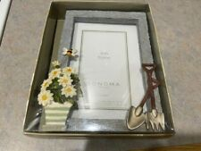 New Sonoma 4X6 Picture Frame with Garden Tools and Flower Pot Accents.