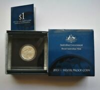 2013 $1 Royal Australian Mint Kangaroos Mob Of Roos Silver Proof Coin No: 136