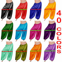 Belly Dance Harem Pant Yoga Trousers Pantaloons Satin Tribal Gypsy Harem Pants