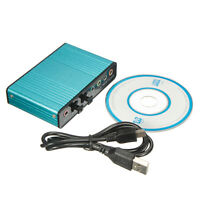 6 Channel 5.1 S/PDIF Optical USB External Audio Adapter Sound Card For PC Laptop