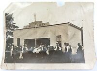 .SUPER RARE c1902 PHOTO OF BOOROODABIN BOWLS CLUB CLUBHOUSE. (Brisbane)