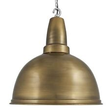 Large Retro Industrial Metal Pendant Bar Lighting - Brass - 17 inch