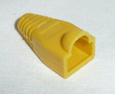 100 x RJ45 Boot Cover for PLUG Connector Network Cable cat5e ethernet New YELLOW