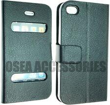 Para Apple Iphone 4 4g 4s Cuero Pu Funda Protector De Pantalla Billetera Libro Flip