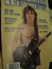 Record Review Magazine February 1984 AC/DC, Motorhead, Quiet Riot, Sabbath, Blue