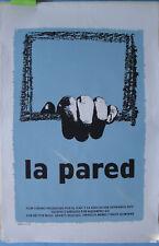 La pared ICAIC Film Movie Poster Art Arnulfo 2006 Original Silkscreen CUBA CUBAN
