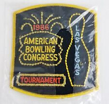 Vtg 1986 Abc American Bowling Congress Tournament Bowling Patch Las Vegas Nos