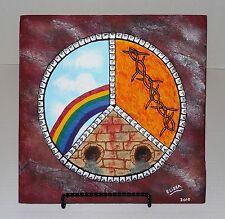 "Celebrating Dio Heavy Metal Themed Painting 12"" x 12"" Flagstone By Elissa Shakal"